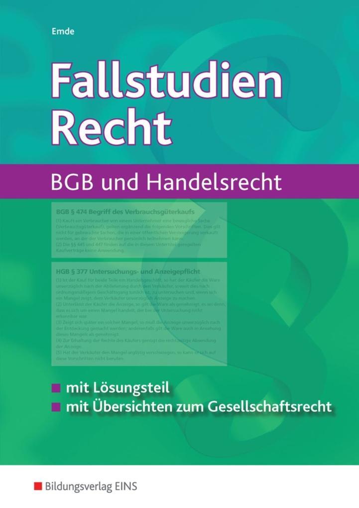 Fallstudien Recht. Arbeitsbuch als Buch