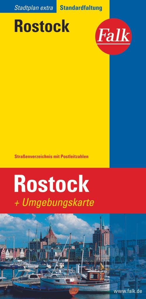 Falk Stadtplan Extra Standardfaltung Rostock 1 : 20 000 als Buch
