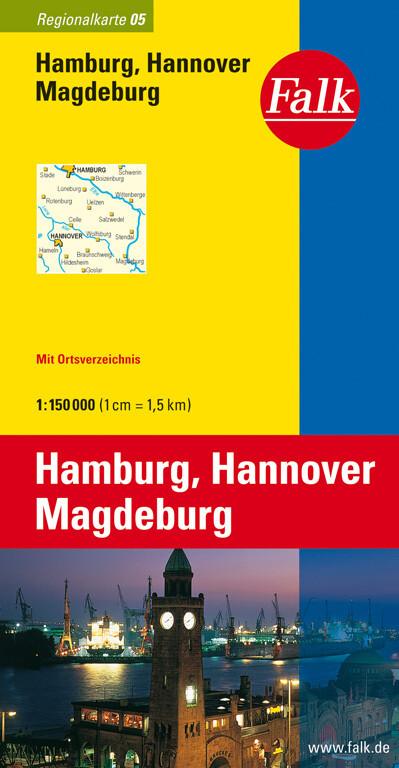 Falk Regionalkarte 05. Hamburg, Hannover, Magdeburg. 1 : 150 000 als Buch