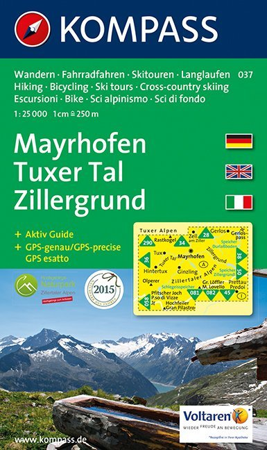 Mayrhofen / Tuxer Tal / Zillergrund 1 : 25 000 als Buch