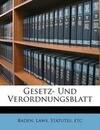 Großherzoglisch badisches Staats -und Regierungs- Blatt, Zweyundzwnasigster Jahrgang Nro. 1 bis 31