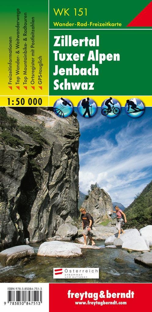 Zillertal, Tuxer Alpen, Jenbach, Schwaz 1 : 50 000. WK 151 als Buch
