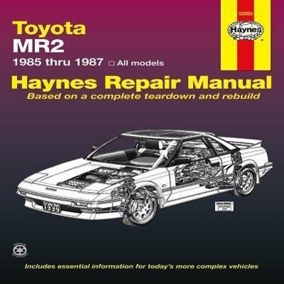Toyota MR2 (1985-1987) Haynes Repair Manual (USA) als Buch (gebunden)