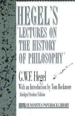 Hegel's Lectures on History of Philosophy als Taschenbuch