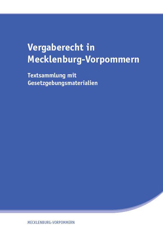 Vergaberecht in Mecklenburg-Vorpommern als Buch
