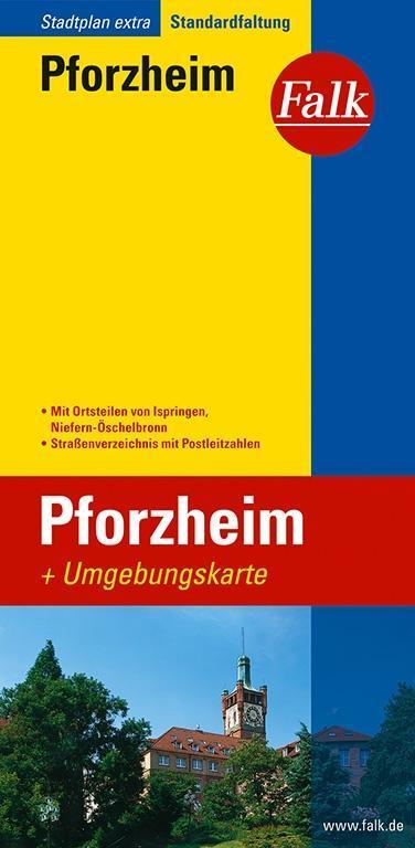 Falk Stadtplan Extra Standardfaltung Pforzheim ...