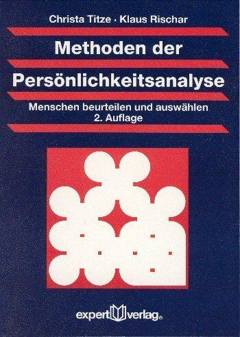 Methoden der Persönlichkeitsanalyse als Buch