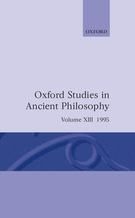 Oxford Studies in Ancient Philosophy: Volume XIII: 1995 als Buch