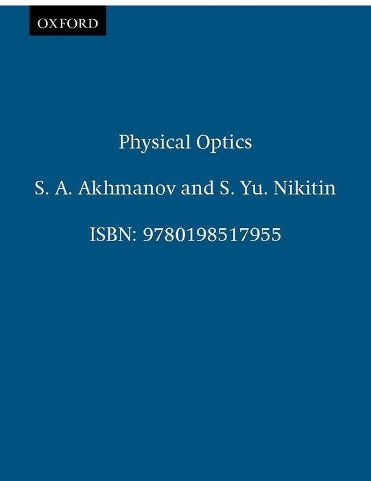 Physical Optics als Buch