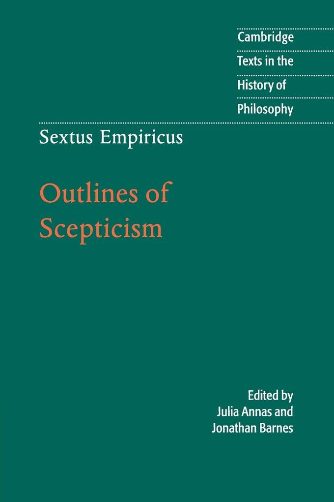 Sextus Empiricus: Outlines of Scepticism als Buch