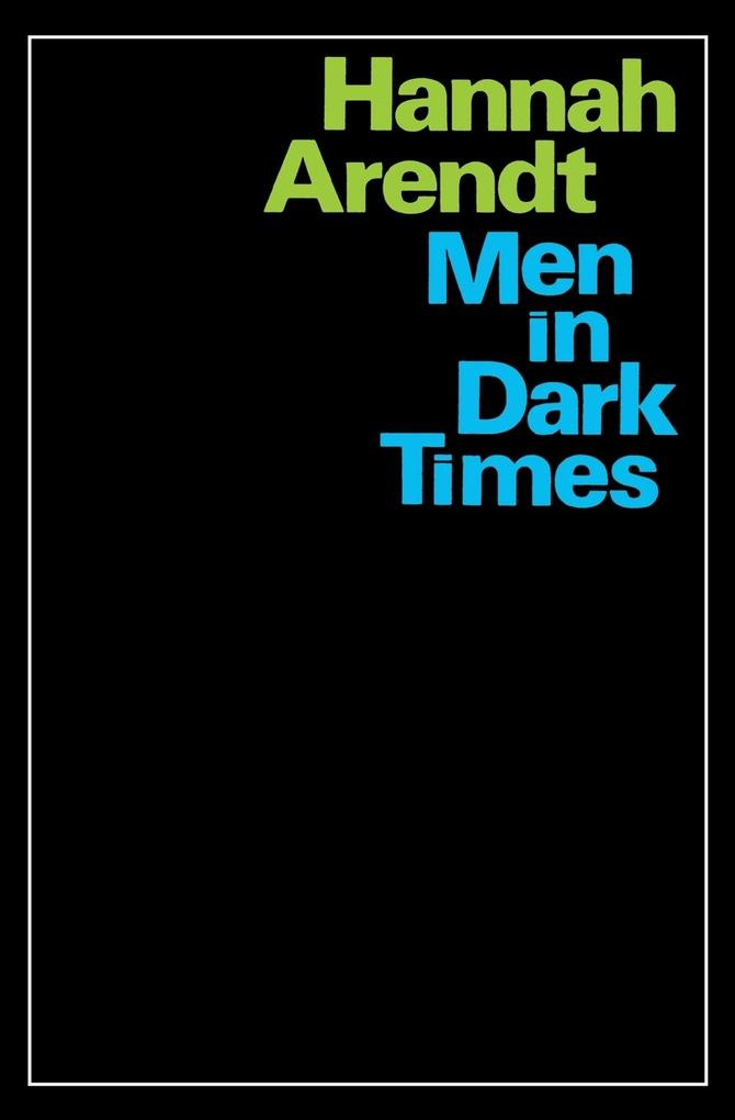 Men in Dark Times als Taschenbuch