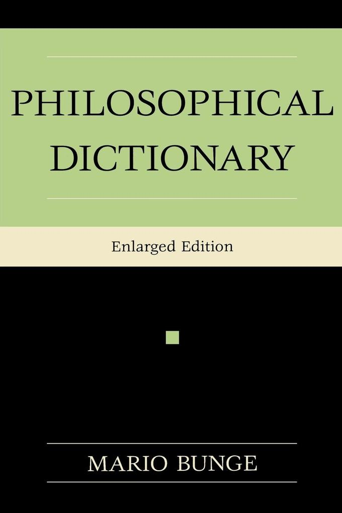 PHILOSOPHICAL DICT ENLARGED/E als Taschenbuch