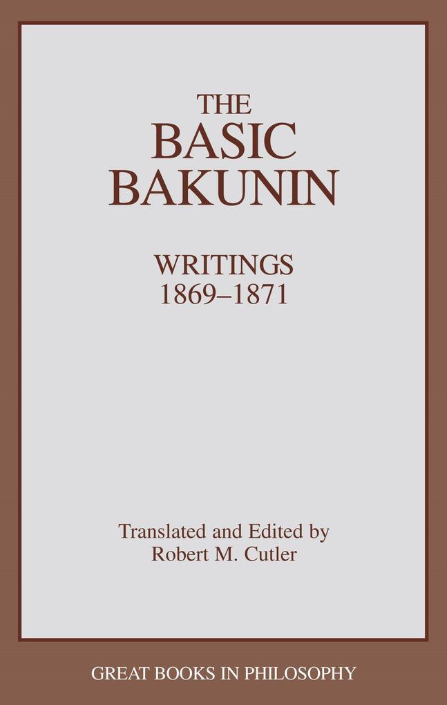 The Basic Bakunin als Taschenbuch