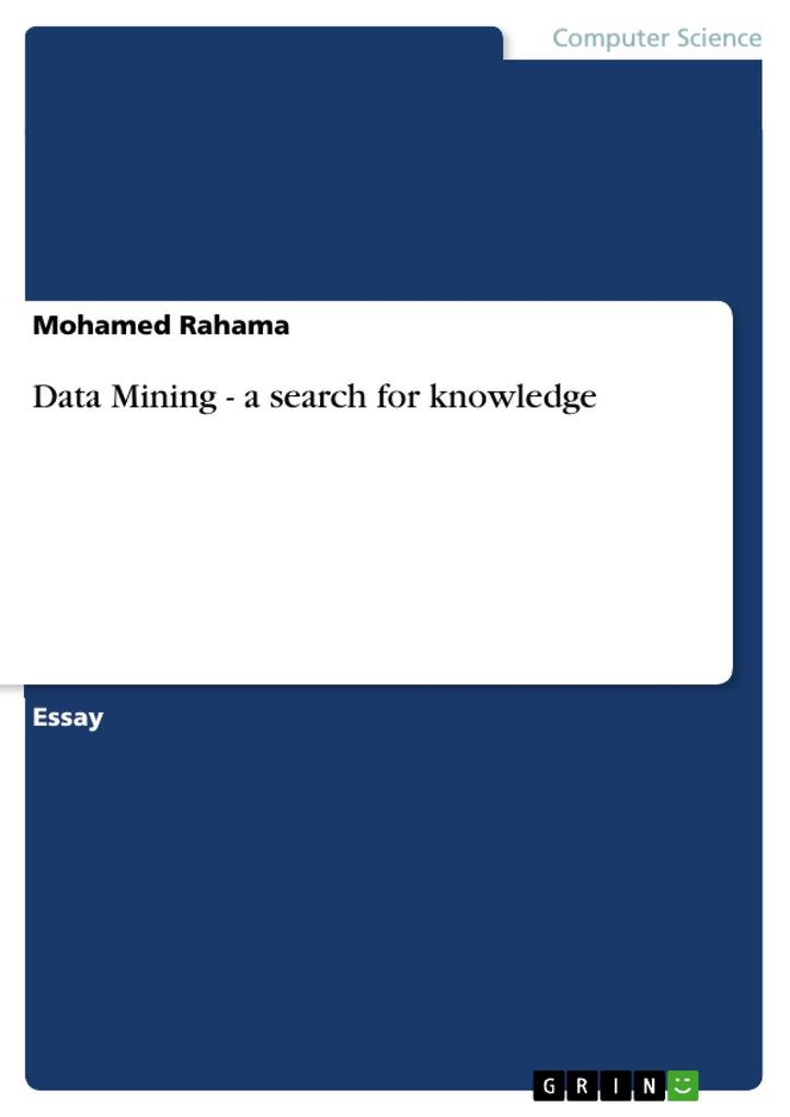 Data Mining - a search for knowledge als Tasche...