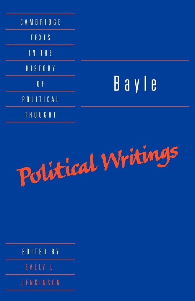 Bayle: Political Writings als Buch