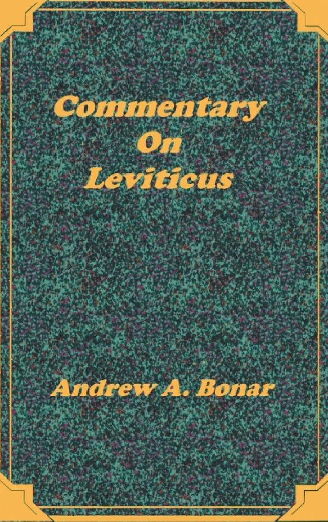 Commentary on Leviticus als Buch