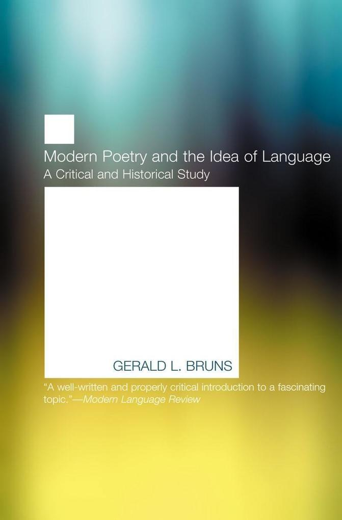 Modern Poetry and the Idea of Language als Taschenbuch