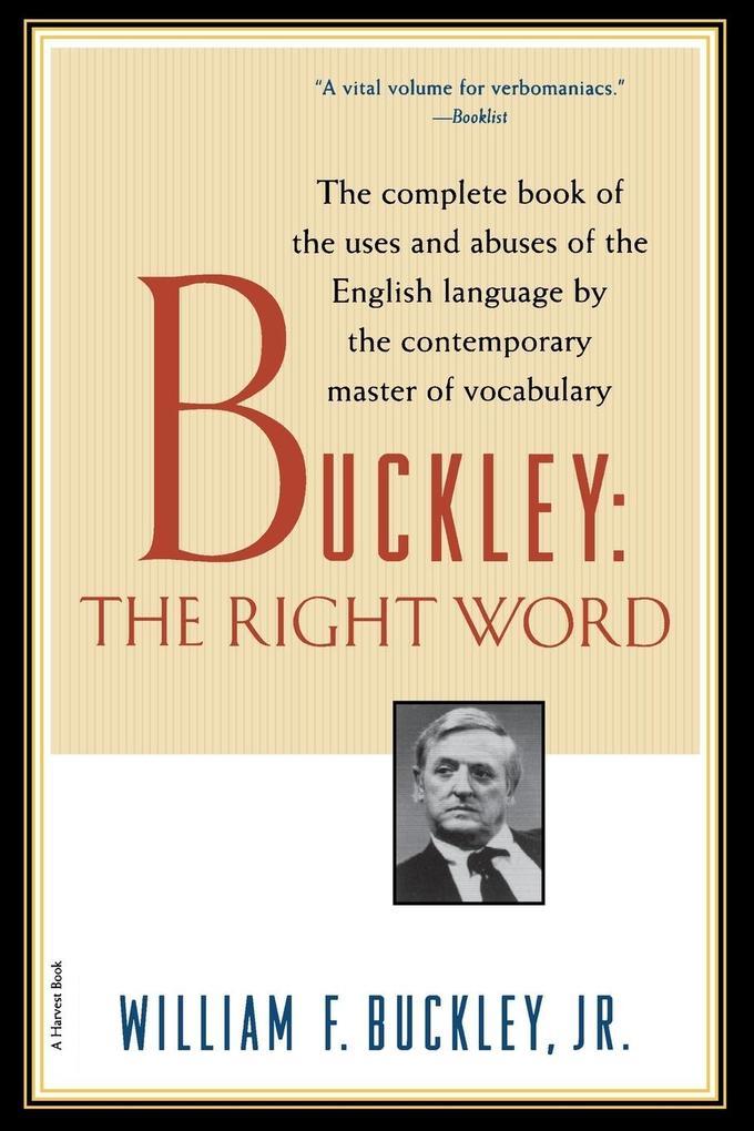 Buckley: The Right Word als Taschenbuch