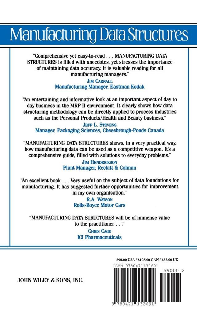 Manufacturing Data Structures: Building Foundations for Excellence with Bills of Materials and Process Information als Buch