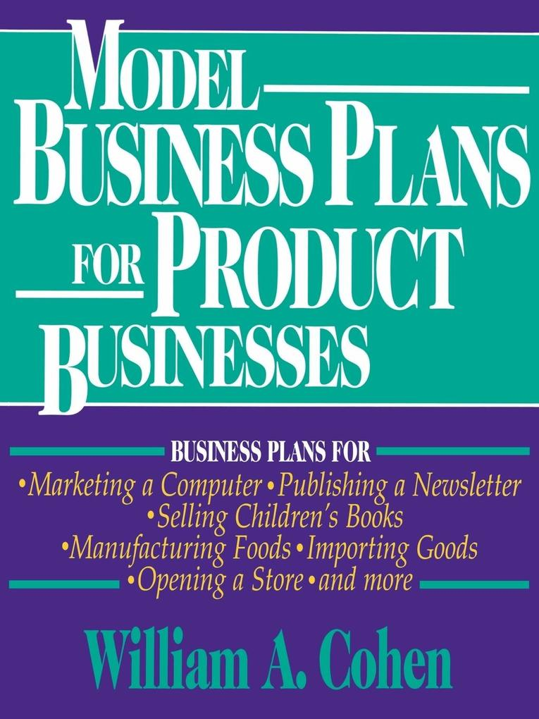 Model Business Plans for Product Businesses als Taschenbuch