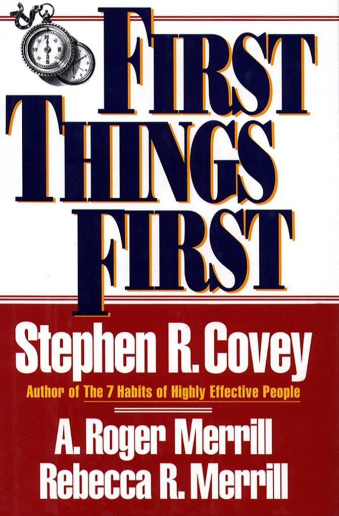 First Things First als Taschenbuch