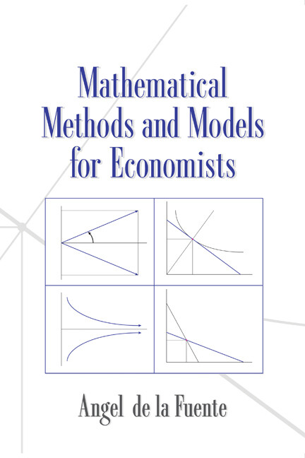 Mathematical Methods and Models for Economists als Buch