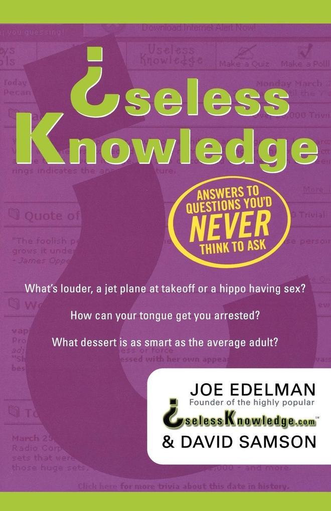 Useless Knowledge als Taschenbuch