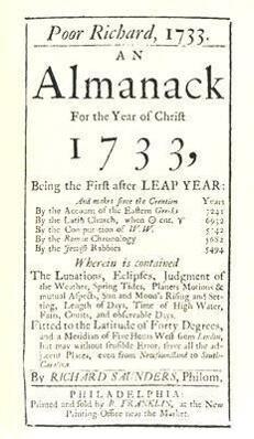 Poor Richard, 1733 an Almanack: For the Year of Christ 1733 als Taschenbuch