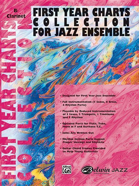 First Year Charts Collection for Jazz Ensemble: B-Flat Clarinet als Taschenbuch