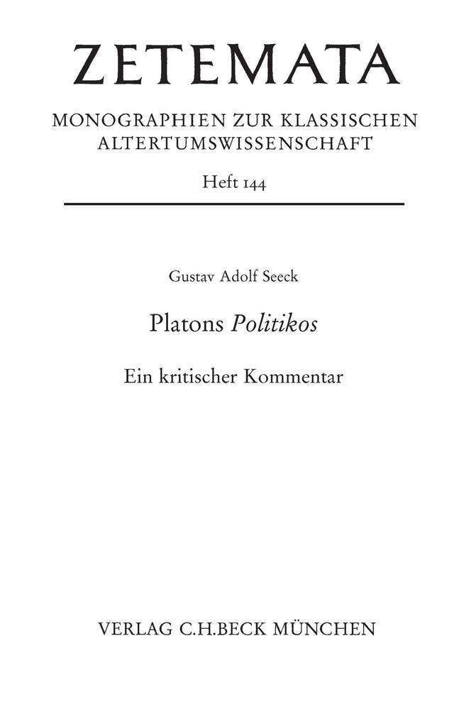 Platons Politikos als eBook