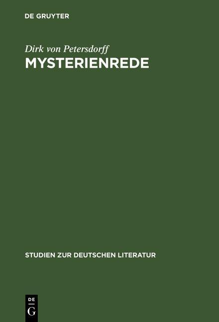 Mysterienrede als eBook