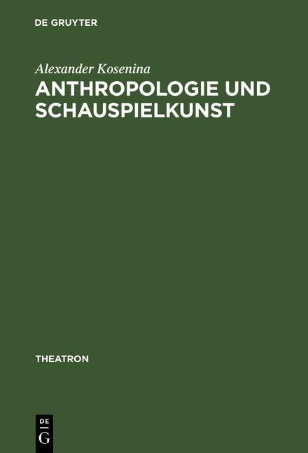 Anthropologie und Schauspielkunst als eBook