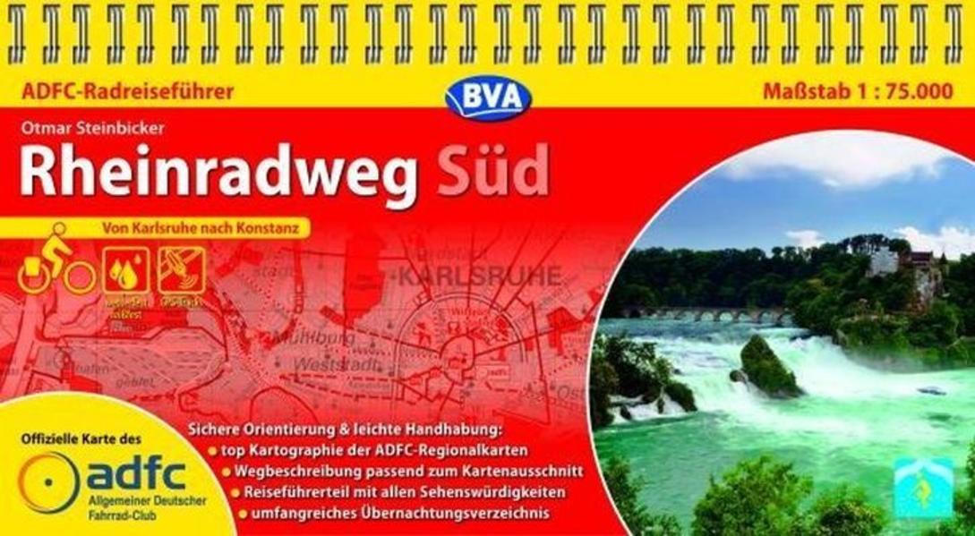 ADFC Radreiseführer Rheinradweg Süd 1 : 75 000 als Blätter und Karten