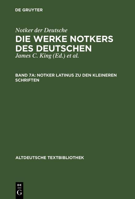 Notker latinus zu den kleineren Schriften als eBook