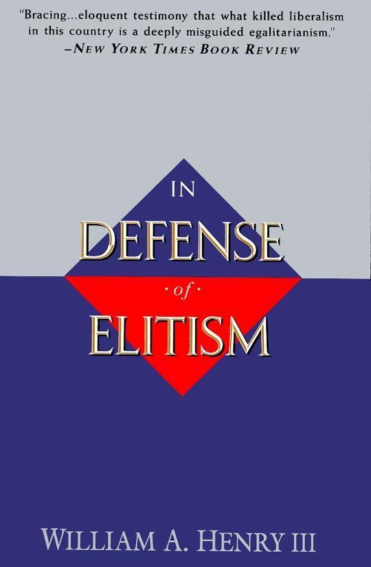 In Defense of Elitism als Taschenbuch