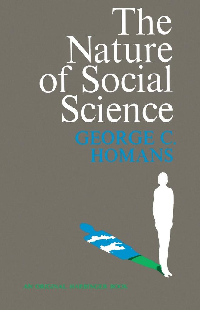 The Nature of Social Science als Taschenbuch