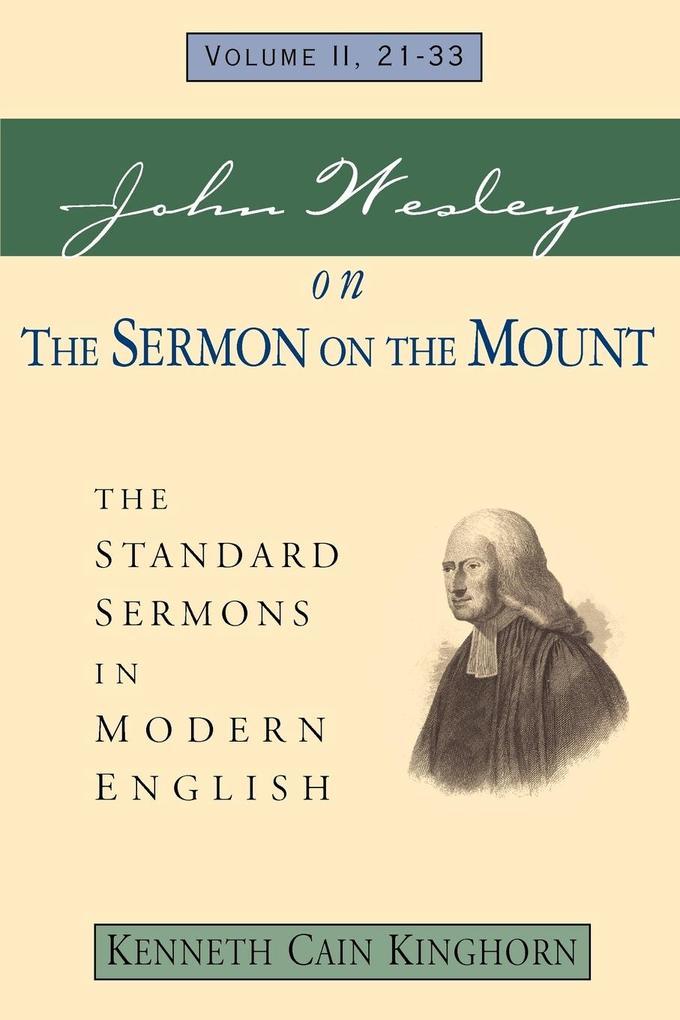 John Wesley on the Sermon on the Mount Volume 2 als Taschenbuch