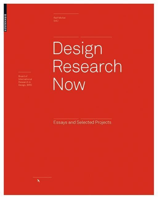 Design Research Now als eBook von - Birkhäuser Verlag GmbH