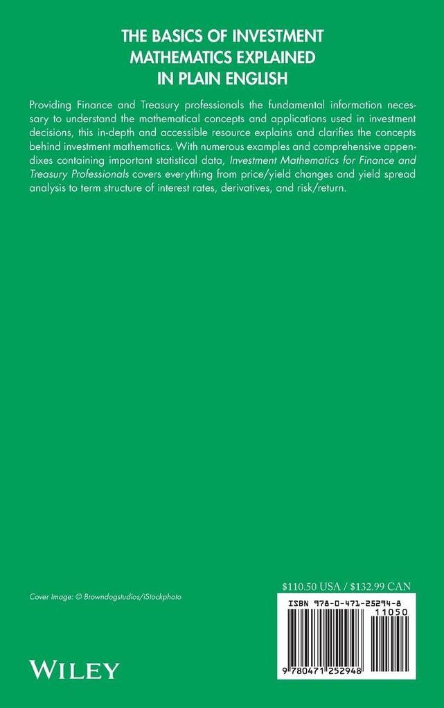 Investment Mathematics for Finance and Treasury Professionals: A Practical Approach als Buch
