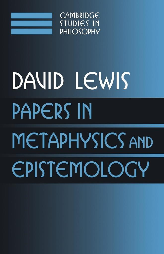 Papers in Metaphysics and Epistemology: Volume 2 als Buch