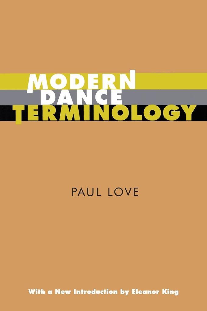 Modern Dance Terminology als Taschenbuch