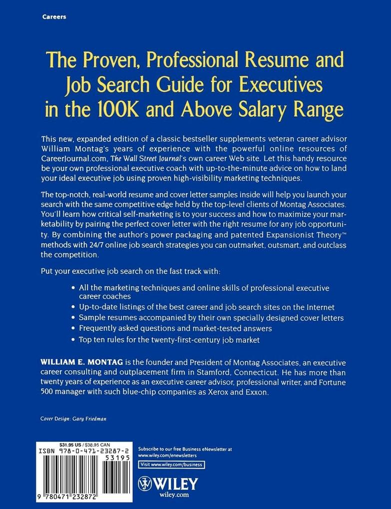 Careerjournal.com Resume Guide for $100,000 + Executive Jobs als Taschenbuch