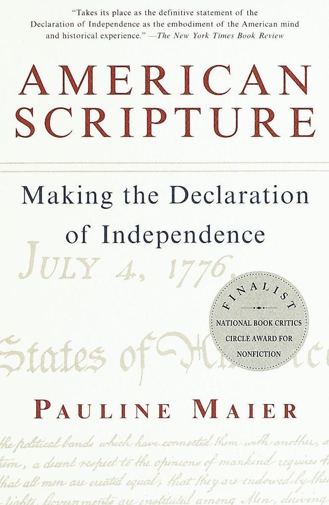 American Scripture: Making the Declaration of Independence als Taschenbuch