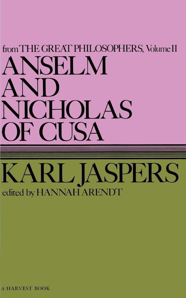 Anselm and Nicholas of Cusa als Taschenbuch