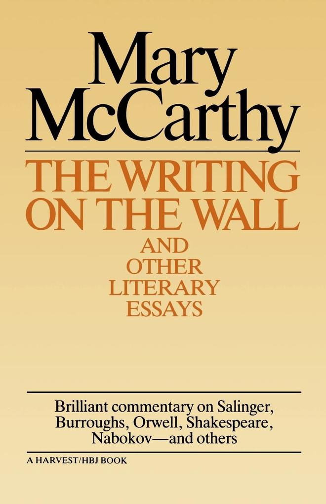 Writing on the Wall & Other Lit Essays als Taschenbuch