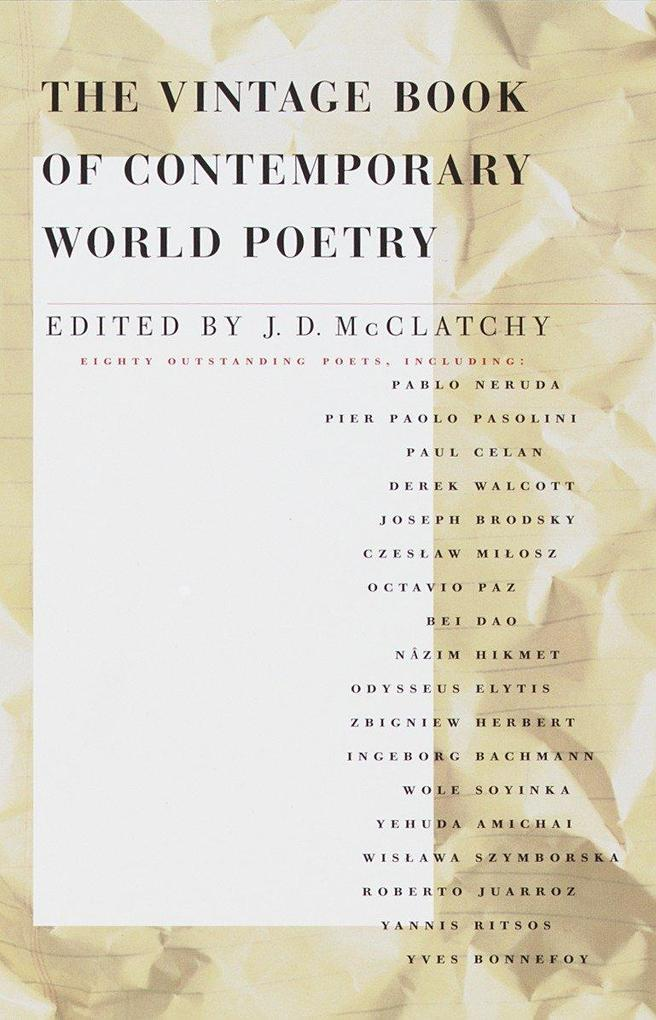 The Vintage Book of Contemporary World Poetry als Taschenbuch