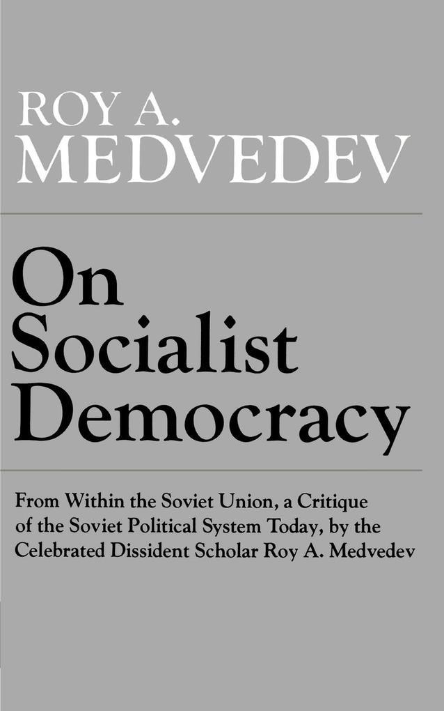 On Socialist Democracy als Taschenbuch