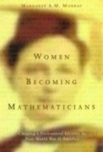 Women Becoming Mathematicians als Taschenbuch