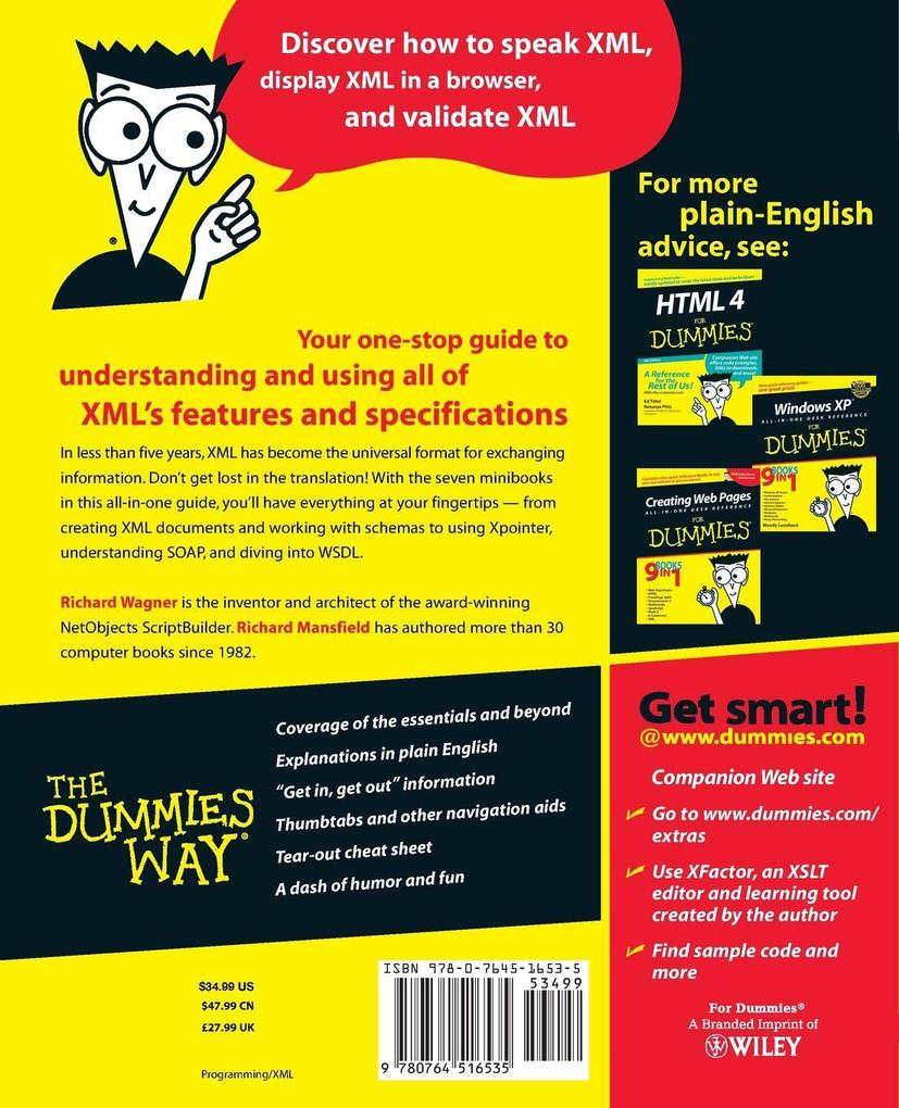 XML All in One Desk Reference for Dummies als Buch