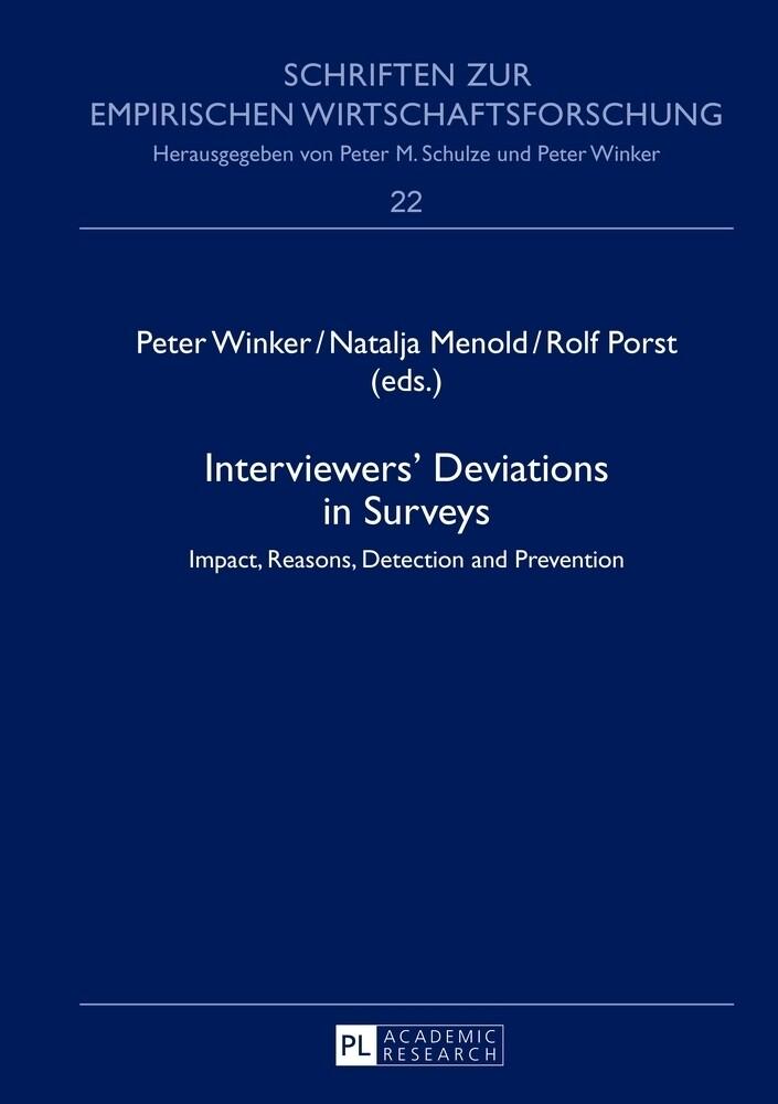 Interviewers' Deviations in Surveys als Buch (gebunden)